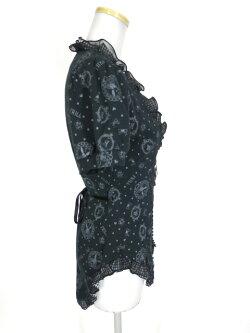 h.NAOTOFRILL/ギンガムフリル付き燕尾半袖カーディガンエイチナオトフリルB23432_1907