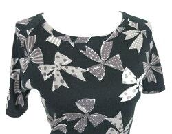 【中古】JaneMarple/リボンプリントTシャツジェーンマープルB23974_1909