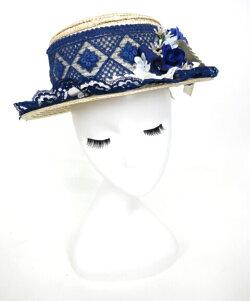 【中古】corgi-corgi/ローズ&レース付き麦わらハットコーギーコーギー帽子B24012_1909