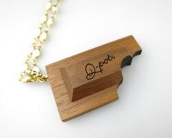 【中古】Q-pot./ウッドチョコレートネックレスキューポットB26800_1911