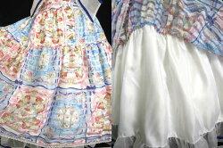 【中古】BABY,THESTARSSHINEBRIGHT/RubanleLienalamode柄ティアードジャンパースカート&カチューシャベイビーザスターズシャインブライトB26906_1911