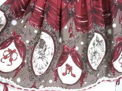 【中古】BABY,THESTARSSHINEBRIGHT/ChamedeRouge〜私だけの赤い靴〜柄スカートベイビーザスターズシャインブライトB27451_1911