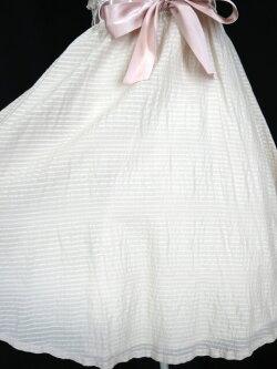 JaneMarple/ジャガードボーダー胸フリルノースリーブワンピースジェーンマープルB27595_1911