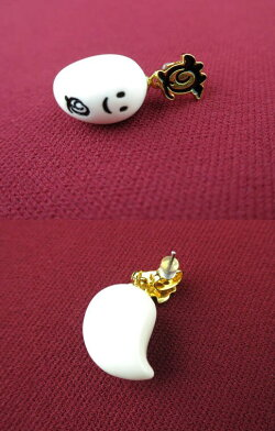 【中古】Q-pot./プチベビーゴーストピアスキューポットB28886_2001