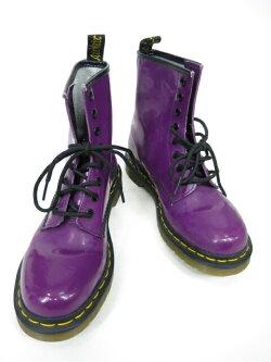 【中古】Dr.Martens/エナメル8ホールブーツドクターマーチンUK5紫パープルB29472_2002