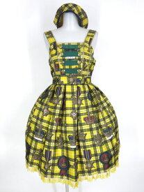 Angelic Pretty / Antique Crown SpecialジャンパースカートSet(JSK+ベレー) アンジェリックプリティ アンティーククラウン 王冠 チェック柄 B30650_2003