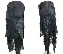 【中古】h.NAOTO/ドラゴンレザー付きパンツエイチナオトB30707_2003