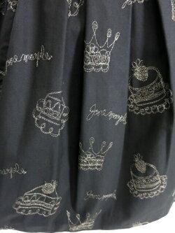 【中古】JaneMarple/王冠&ケーキ刺繍スカートジェーンマープルB33266_2006