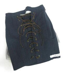 【中古】aliceauaa/編み上げ付きパニエアリスアウアアスカートB33422_2006