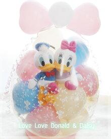 結婚式 バルーン 電報 ディズニー おしゃれ ドナルド LOVELOVE Donald & Daisy