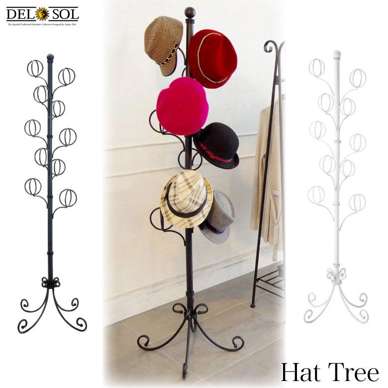 【送料無料(北海道・沖縄・離島は除く)】 帽子掛け♪ 帽子ツリー DS-P1708 Del Sol デルソル 《帽子コレクション アイアンハンガー ディスプレーハンガー 姫系 アイアン系 店舗 アパレル ブティック》