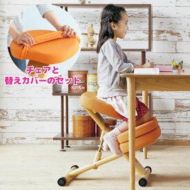 【送料無料(北海道・沖縄・離島は除く)】姿勢がよくなる椅子補助クッションと替えカバー(本体と同色)付きプロポーションチェアキッズ CH-889CK CV-8Kのセット 《学習椅子 学習チェア プロポーションチェア 子供 子ども チェア替えカバー付》