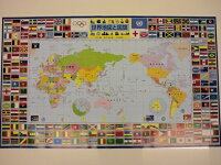 デスクマット世界地図