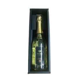 ワイン スパークリング フェリスタス 金箔入り 【ブラックボックス仕様】 送料込 シャンパン ヴァンムスー プレゼント 酒 お彼岸 敬老の日
