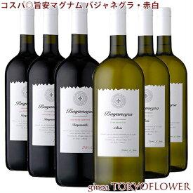 赤白 ワイン セット コスパ◎旨安マグナム バジャネグラ・赤白 1.5リットル 6本セット 酒 贈答 バレンタイン