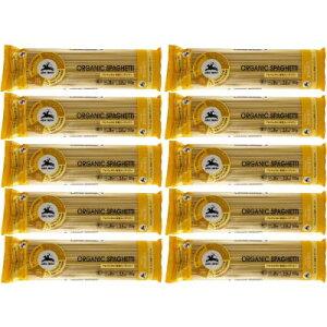 Alcenero アルチェネロ 有機スパゲッティ 1.6mm 350g まとめ買い x10袋 パックセット パスタ 保存食 スパゲティ 贈答