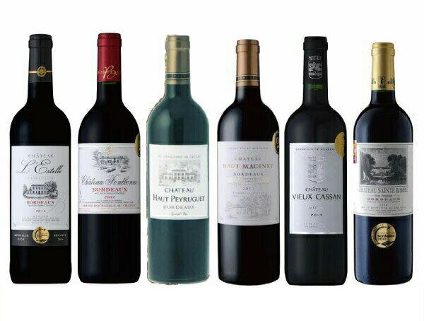 ワインセット ボルドー金賞 受賞ワイン ソムリエ厳選 おすすめ6本 赤ワインセット 送料別 飲み比べ 高コスパ