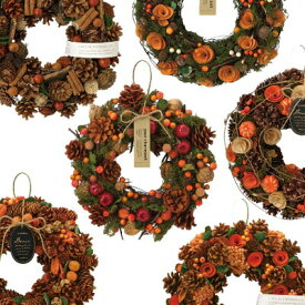 ナチュラル リース Lサイズ オータム 送料無料 選べる素材 花色 A-タイプ 誕生日 プレゼント ギフト 記念日 クリスマス 装飾 贈答