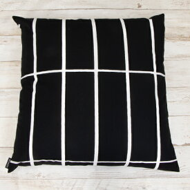 【2021年春夏新作】 マリメッコ marimekko クッションカバー Tiiliskivi cushion cover 50x50cm ティーリスキヴィクッションカバー (910 ブラック×ホワイト) 066707 910 北欧 フィンランド [2021SS]