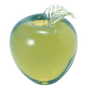 リンゴ葉つきペーパーウェイト(新島ガラス)