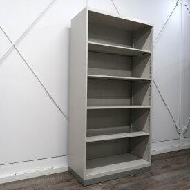 イトーキ シンラインキャビネット オープン書庫 5段 ホワイトグレー HTM-189LS-WE