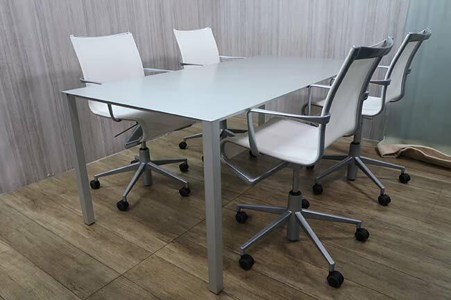 cassina エアフレーム30043VOテーブル+Alias ローリングフレームチェア 5点セット