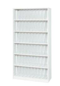 東洋事務器工業(TOYO) カルテ収納庫 オープン型 A4サイズ 6段 ホワイト W900 D350 H1770 M935-18KA4W