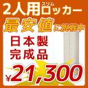 2人用ロッカー スリムタイプ シリンダー錠 鍵付 日本製 W463 D515 H1790 スチールロッカー LK-2S-TNG