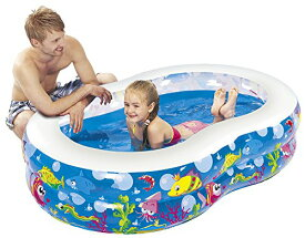 送料無料 JILONG(ジーロン)  フィギュア8プール 175×109×46 ビニールプール 子供用プール 水遊び 猛暑対策 空気入れ必要 家庭用プール