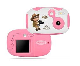 キッズカメラ AMKOV/アムコフ CD-DF-PK ピンク トイカメラ トイデジ キッズ用カメラ
