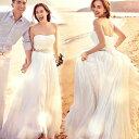 【ウェディングドレス ロングドレス☆エンパイアライン☆ビスチェタイプ ドレス ロング トレーン 白 ドレス【結婚式…