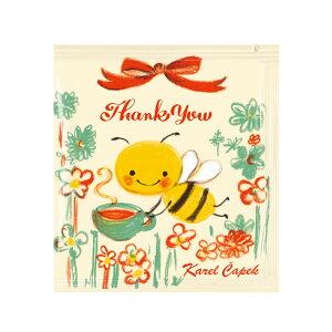 カレルチャペック紅茶店 メッセージティーバッグ(Thank you) 紅茶ティーバッグ 5P セレクト雑貨のお店 プレゼント 贈り物 ギフト 内祝い 退職 プチギフト 誕生日 記念日 サプライズ 紅茶 テ