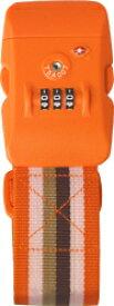 【クリックポストOK】スーツケースベルト TSAロック対応TSAロック付きスーツケースベルトジューシーオレンジ