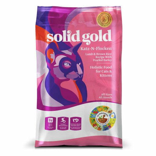 ソリッドゴールド カッツフラッケン ラム&玄米 全年齢猫用 5.44kg【送料無料】