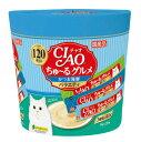いなば CIAO(チャオ) ちゅ〜る かつお海鮮バラエティ 猫用 14g×120【送料無料】