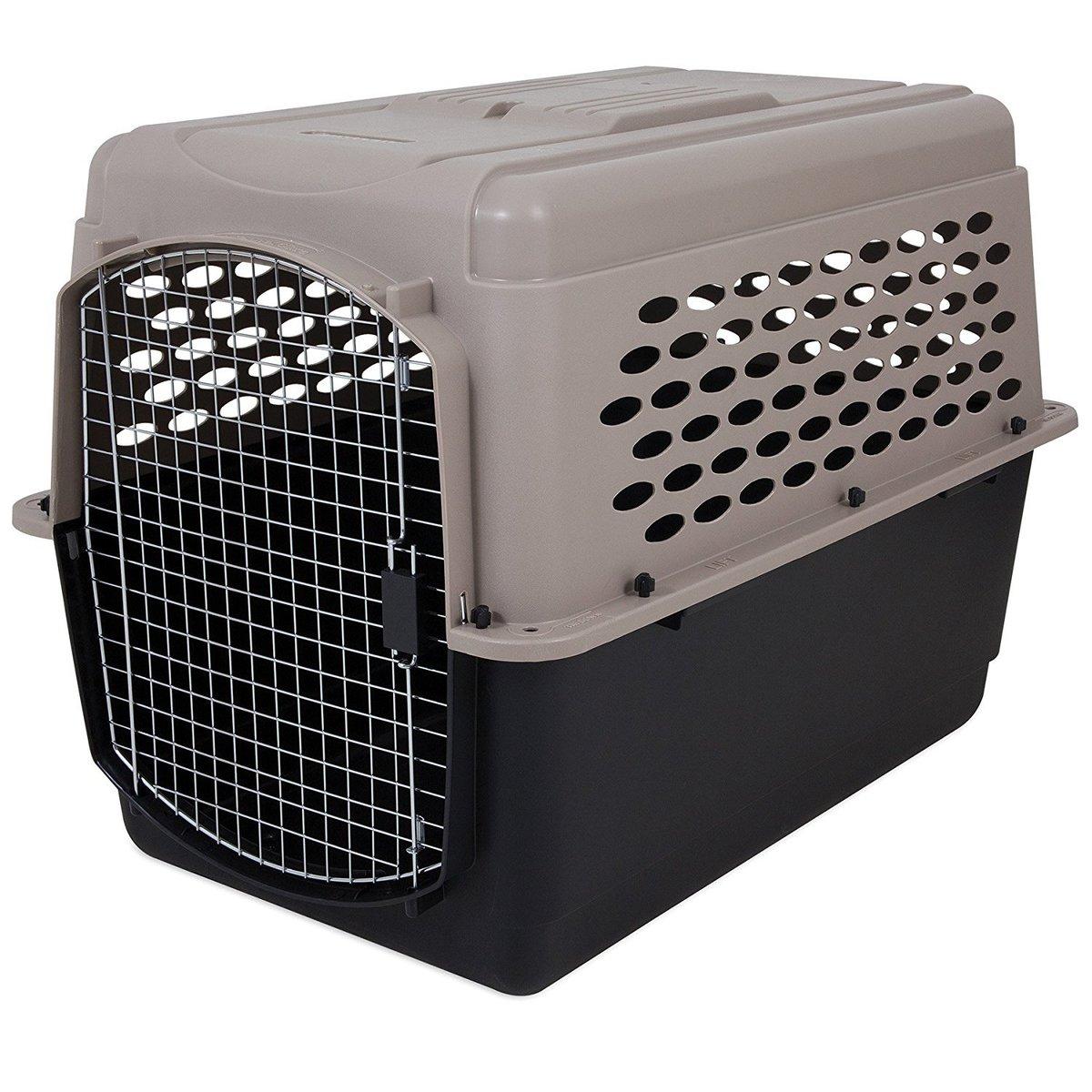 ペットメイト バリケンネル 70-90lbs (31.7-40.8kg) 犬用 トープ/ブラック【送料無料】