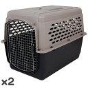 ペットメイト バリケンネル 70-90lbs (31.7-40.8kg) トープ/ブラック 犬用 ×2入【送料無料】