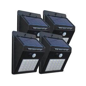 【11月上旬入荷発送】ソーラーセンサーライト ソーラーライト 屋外 人感センサー ソーラーセンサライト 25LED または 42LED 4個セット