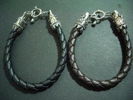 【メール便可】革ブレスレット・編み込み・レザー・メンズ・Mens・Bracelet・レザー・NB-713