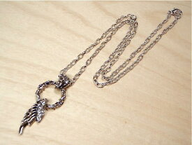 【Ring & Angel fezer Nacklace】リングパーツに下がったエンジェルフェザーネックレス 羽【メール便可】