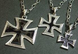 エポ入りビッグクロスネックレス・大・中・小【メール便可】ユニセックス 鉄十字 十字架 鍵十字 Cross