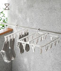 多数フック付きハンガー 洗濯ハンガー 引っ張るだけ すぐ取れ 洗濯 物干し ハンガー 36×32×16cm「ライトグレー」