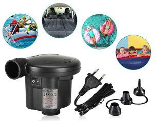 電動エアーポンプ 電動ポンプ プール空気入れ 空気抜き 両対応 3種類のノズル付き 小型 浮き輪 ゴムボート エアベット コンパクト エアープール エアーマット プール適用 持ち運び 手持ちポ