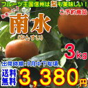 【予約】【送料無料】長野県産 南水梨 約3kg(6〜8玉前後)信州原産のご当地梨!ジューシーでシャリシャリのあま〜い梨♪