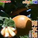 【送料無料】長野県産 南水梨 約3kg(6〜8玉前後)×2箱セット(計約6kg)信州原産のジューシーでシャリシャリのあま〜…