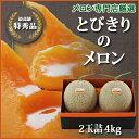 【1日10箱限定】■送料無料■富良野メロン専門店の確かな味![とびきりのメロン]2玉詰・4kg 赤肉メロン ランキングお取り寄せ