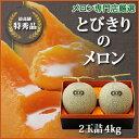 【1日10箱限定】送料無料[とびきりのメロン]2玉詰・4kg 赤肉メロン 富良野メロン専門店の確かな味!