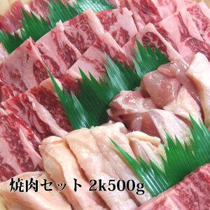 【御中元】送料無料 焼肉セット 2k500g 牛肉 焼肉 国産 カルビ 牛タン オーカク ハラミ 豚カルビ 鶏モモ 高級黒毛和牛肉 焼き肉セット バーベキューセット bbq セット 焼肉 お試し バーベキュー