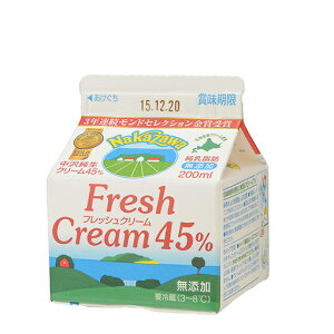 TOMIZ cuoca(富澤商店・クオカ)中沢 フレッシュクリーム45% 【冷蔵便】/ 200ml 生クリーム・クリーム類 クリーム 200ml