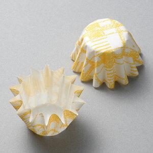 TOMIZ cuoca(富澤商店・クオカ)自立型カップ 格子オレンジ / 40枚 ベーキングカップ カップケーキ